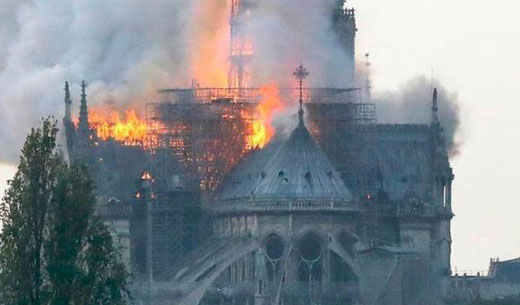 Main Structure of Notre Dame is in Danger after FIRE