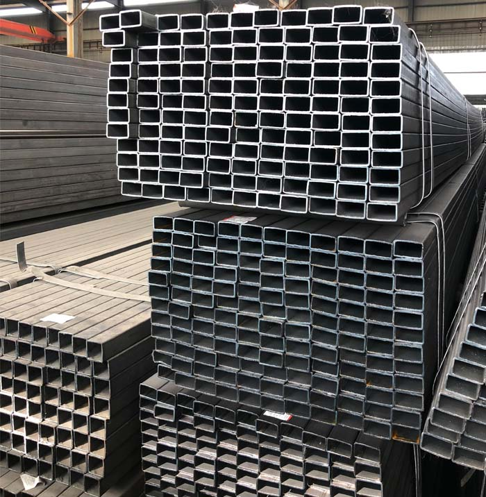 Q235 Grade Hot Rolled Rectangular Steel Box Section Pipe