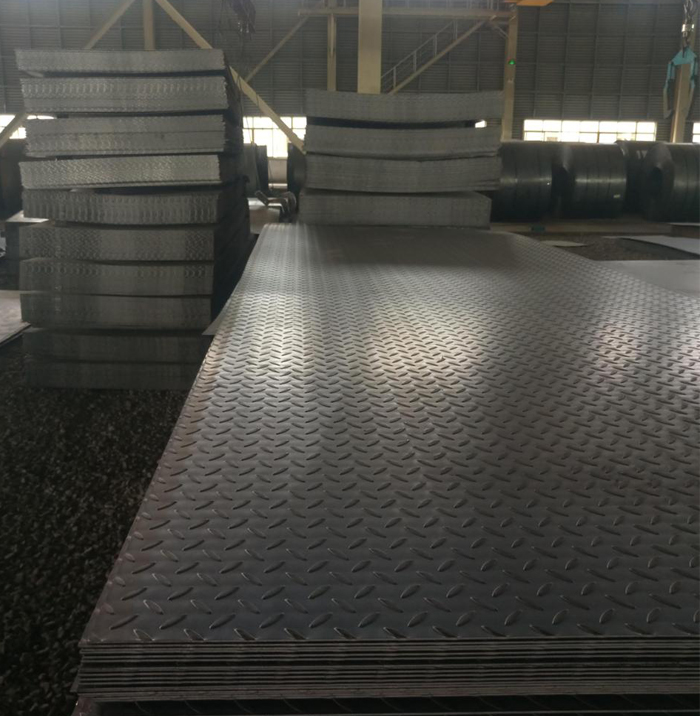 Hot Rolled Chequered Steel Plate Q235 With High Strength