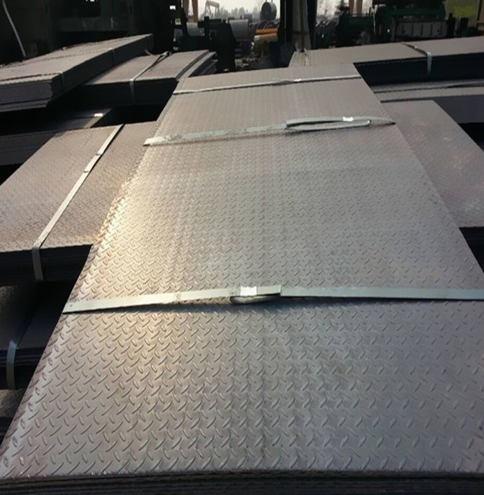 MS carbon hot rolled steel checkered plate factory price for sale