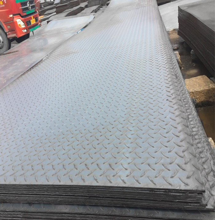 Quality hot rolled checkered steel plate standard sizes with factory direct price