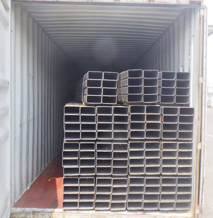 SGS China Supplier Mild Black Hot Rolled Rectangular Steel Tube