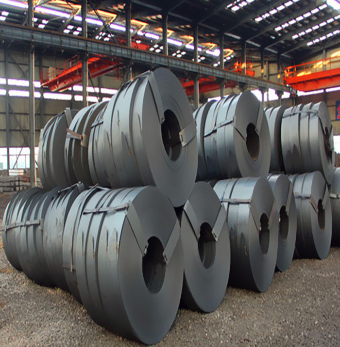 high quality 147mm Q195 hot rolled carbon steel strip in coil