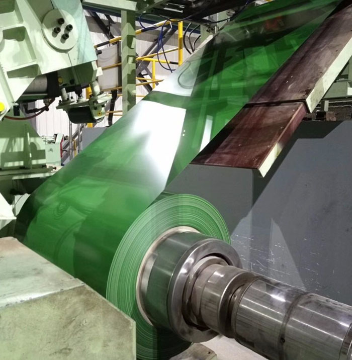1250mm pre painted galvanized steel coil PPGI green in oversea market