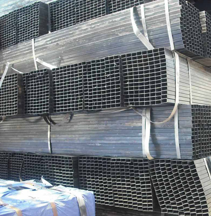 building materials Q235 Hot Rolled Black Rectangle Mild Steel Tube