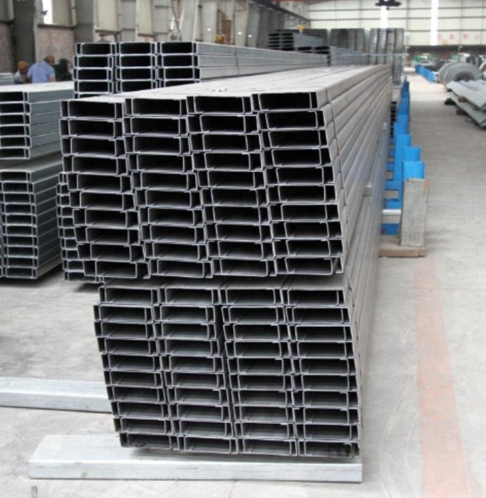 Hot Selling 80x40x20x2 5mm Galvanized C Beam Strut Steel C