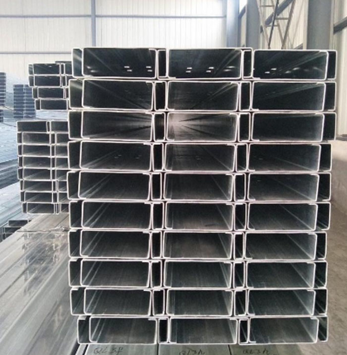 Hot Selling 80x40x20x2.5mm Galvanized C Beam Strut Steel C Channel